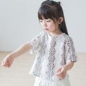 兒童T恤純棉麻短袖女童上衣印花短版套頭衫
