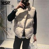 情侶裝棉馬甲男秋冬季韓版潮無袖外套男女加厚寬鬆立領棉坎肩背心   美斯特精品