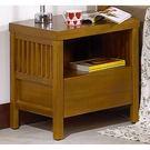 【森可家居】魯娜柚木床頭櫃 7JF033-4 實木 木紋質感 無印北歐風