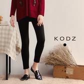 東京著衣【KODZ】率性顯瘦修身皮革拼接設計長褲-S.M.L(172618)