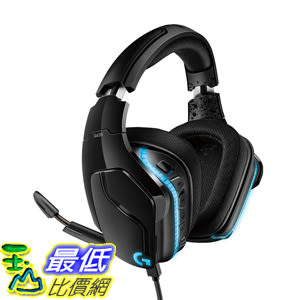 [8美國直購] Logitech G635 耳機 黑色 (981-000748) 7.1 Surround Sound Lightsync PC Gaming Headset