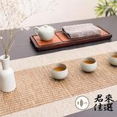 1.8米長茶席2件套裝 竹席防水日式茶席功夫茶道茶旗禪意桌旗【君來佳選】