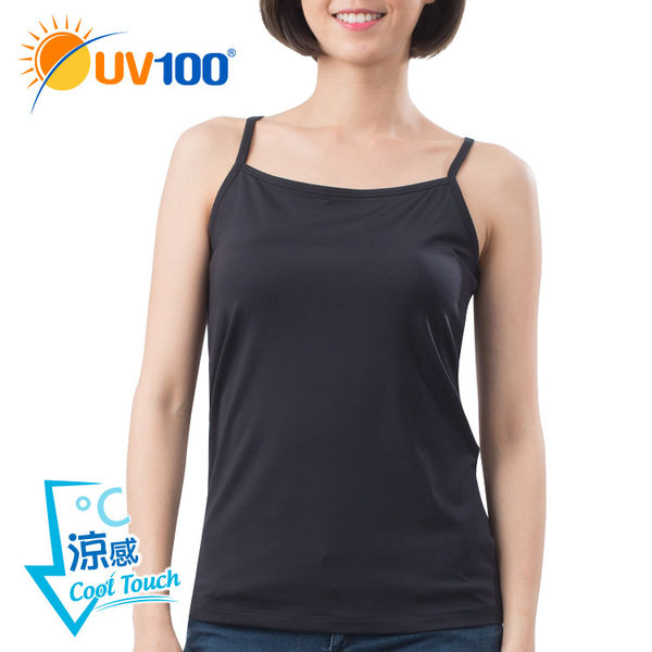UV100 防曬 抗UV-涼感透氣彈力機能挖背背心-女