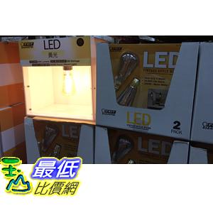 [COSCO代購] C107816 FEIT VINTAGE LED BULB 2PK FEIT LED 復古信鎢絲燈泡2入黃光5/400流明