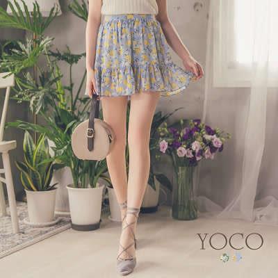 東京著衣【YOCO】韓妞LOOK迷人小碎花短裙-S.M.L(181352)
