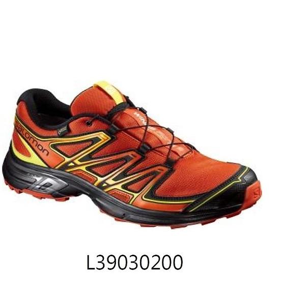 【線上體育】HOKA ONE ONE 男 WINGS FLYTE 2 GTX野跑鞋 熔岩橙/ 黑/ 煤油黃-8.5/9/9.5/10/10.5