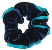 L. Erickson USA 絨布真絲滾邊大腸圈(優雅藍)