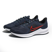NIKE 慢跑鞋 DOWNSHIFTER 11 藍紅 輕量 網布 透氣 健身 男 (布魯克林) CW3411-400