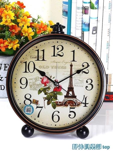 鬧鐘 康巴絲座鐘客廳臥室擺放家用座鐘臺式帶鬧鐘創意北歐時尚風格大字 快速出貨