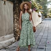 無袖洋裝 原創設計師獨立站2020夏季波點度假風大擺連衣裙