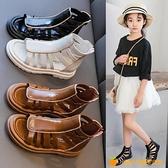 涼鞋新款兒童公主軟底鏤空涼靴中大童女孩沙灘鞋