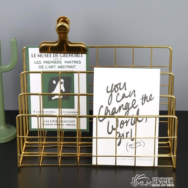 書立創意ins風書架擋板書夾架桌上繪本學生用書檔收納鐵藝書靠 好樂匯