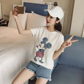 FINDSENSE G5 韓國時尚 純棉 短袖 T恤 創意 卡通 黑色 白色 舒適 上衣