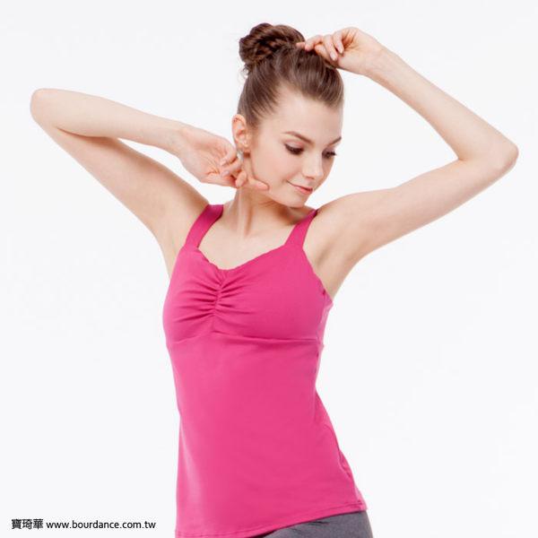 *╮寶琦華╭*台灣製造 專業瑜珈韻律芭蕾★抓皺背心上衣(內有裡襯 附罩杯)【Y16266】