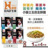 【HyperrRAW超躍】小獵士五色生鮮餐 綜合口味 1公斤4件組