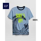 Gap男童 妙趣圖案圓領短袖T恤 310551-淺藍色