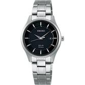 【台南 時代鐘錶 SEIKO】精工 Spirit 環保太陽能鈦金屬時尚腕錶 STPX043J@V137-0CS0D 黑 29mm