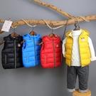 新款兒童馬甲秋冬季加厚男童女童羽絨棉背心小童寶寶連帽坎肩外穿 小山好物