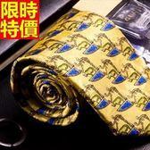 桑蠶絲領帶 男配件-印花真絲條紋商務休閒手打領帶66ae44[巴黎精品]