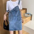 洋裝 2021年新款韓版夏季百搭牛仔背帶裙寬鬆連身裙女夏天赫本風裙子潮