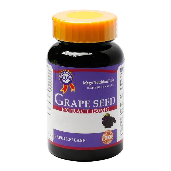 營養生活葡萄籽膠囊(葡萄籽+紅酒+綠茶+生物類黃酮) 90顆/瓶