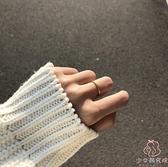 戒指女古法精致簡約冷淡風細時尚素戒沙金【少女顏究院】
