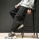 春夏季韓版寬鬆哈倫褲 男士加大碼運動長褲子潮流工裝褲束腳休閒褲 JX1579『Bad boy時尚』