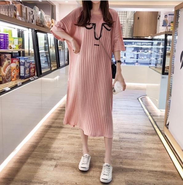 BabyShare時尚孕婦裝 【AUG8036】 現貨新品 -三款表情長裙 三色 孕婦裙
