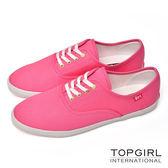 TOP GIRL 繽紛糖果甜心帆布鞋-女(甜粉紅)