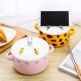 萬聖節快速出貨-環保餐具日式泡麵碗帶蓋方便面碗可愛家用陶瓷碗雙耳湯碗筷套裝