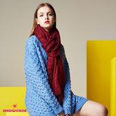 【SHOWCASE】隨性麻花編織長版針織上衣(藍)