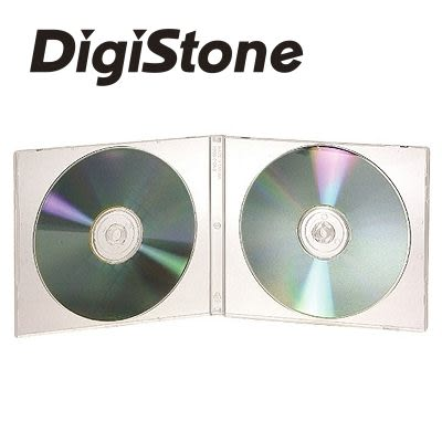 ◆全館免運費◆DigiStone 兩片裝標準型(1cm)軟殼收納盒白色透明 x 25 pcs