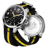 TISSOT 天梭 PRC200 環法自行車賽計時特別版手錶-黑/42mm T0554171705701