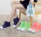 雨鞋女秋冬韓版可愛時尚款中筒女士雨靴短筒防滑防水學生膠鞋 小時光生活館