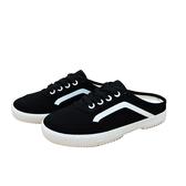 KANGOL 女款黑色帆布鞋懶人鞋-NO.6022200320