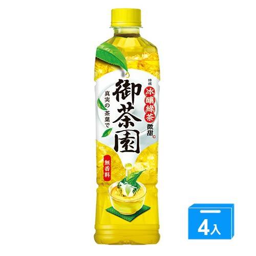 御茶園特撰冰釀綠茶PET550ml*4【愛買】