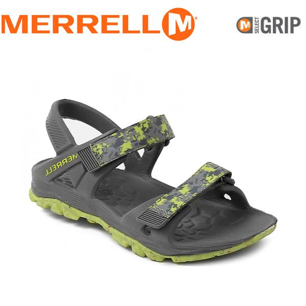 【MERRELL 美國 兒童 HYDRO DRIFT《灰/亮綠》】MY56493/兒童涼鞋/休閒鞋/運動健走鞋