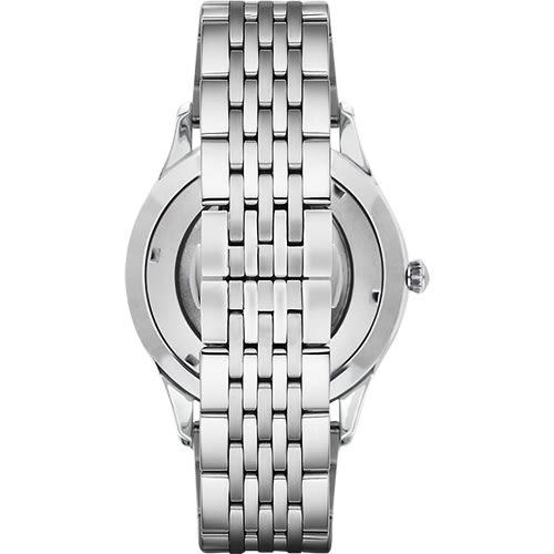 Emporio Armani 亞曼尼 Meccanico 雅爵鏤空機械手錶-銀/43mm AR1945