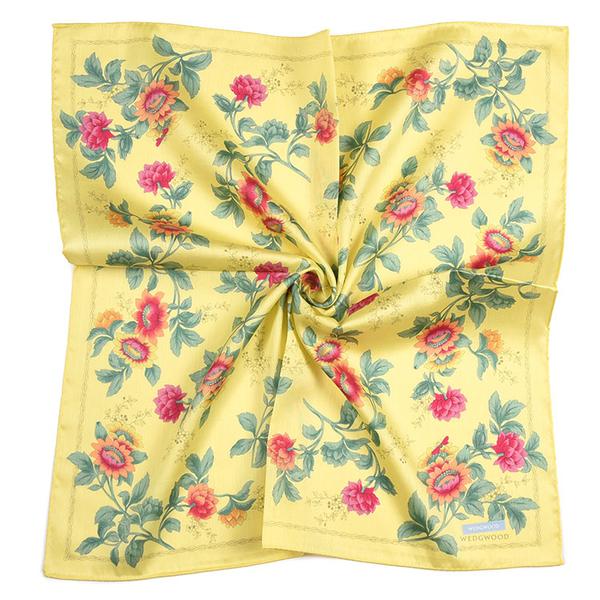 WEDGWOOD太陽花圖案純綿帕領巾(黃色)989219-73