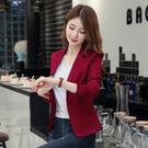 領券下標~西裝外套~紅色小西裝女短款韓版女士修身休閑西服外套3F062A日韓屋