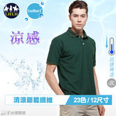 polo衫短袖涼感衣大尺碼男裝現貨深綠色