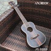 全黑檀玫瑰木尤克裡裡成人小吉他21寸23寸26寸烏克麗麗 樂芙美鞋 YXS