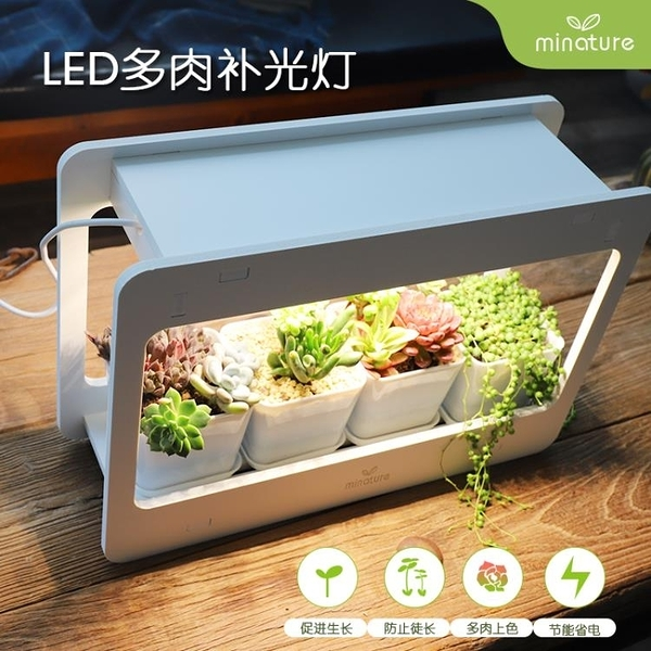 植物補光燈 LED植物生長多肉上色補光燈護眼節能仿太陽光合作用客廳創意燈 裝飾界 免運