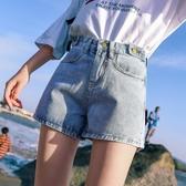 高腰牛仔短褲女夏2019新款韓版港味復古顯瘦寬松A字修身韓版熱褲
