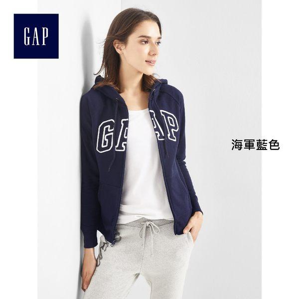 Gap女裝 logo連帽休閒外套 新款女士長袖上衣 639910-海軍藍色