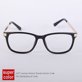 文藝氣息金屬鏡架膠框平光眼鏡【N9350J】