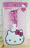 【震撼精品百貨】Hello Kitty 凱蒂貓~KITTY證件套附繩-大頭圖案-粉色