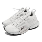 【海外限定】Reebok 慢跑鞋 Zig Kinetica Edge 灰白 反光 戶外風格 抽繩 男鞋【ACS】 FV3837