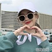 新款眼鏡白色框墨鏡女韓版潮街拍小臉復古圓臉太陽鏡花樣年華