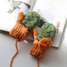 手工編織毛線手套加絨加厚保暖女冬天韓版百搭可愛掛脖  韓流時裳